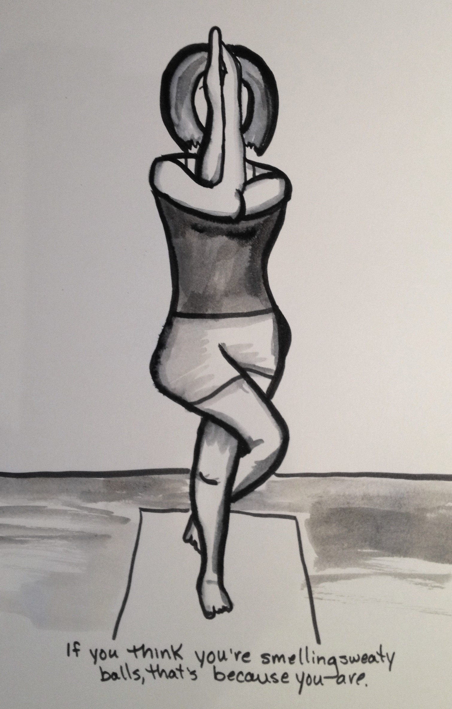 Downside To Hot Yoga Just Pen And Ink
